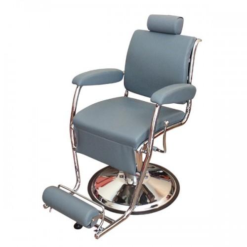 Стилен бръснарски стол в сиво – Модел КА15