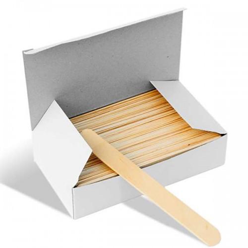 Дървени шпатули за кола маска -100 броя