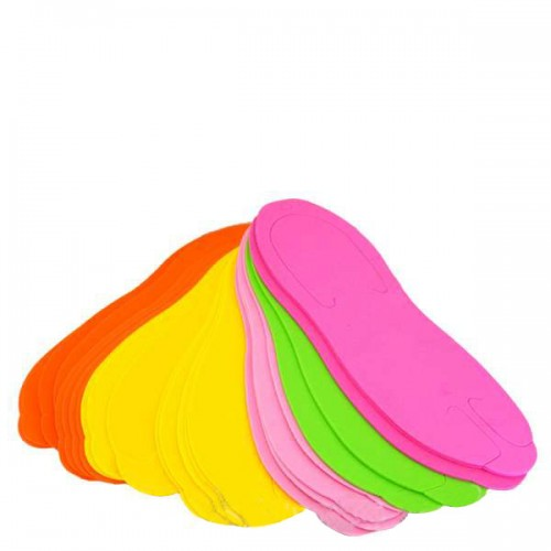 Еднократни цветни чехли за педикюр - 24 броя