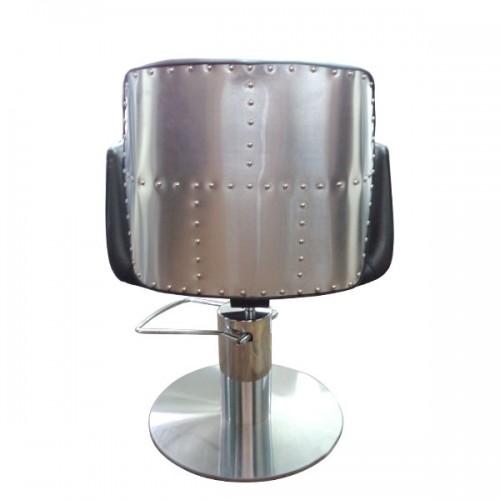 Професионален черен фризьорски стол HA295