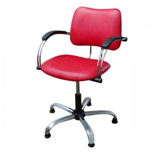 Фризьорски стол 331, червен цвят