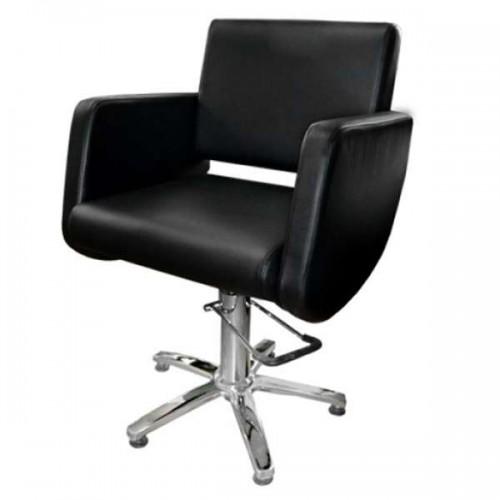 Фризьорски стол в червен цвят - Модел 5013