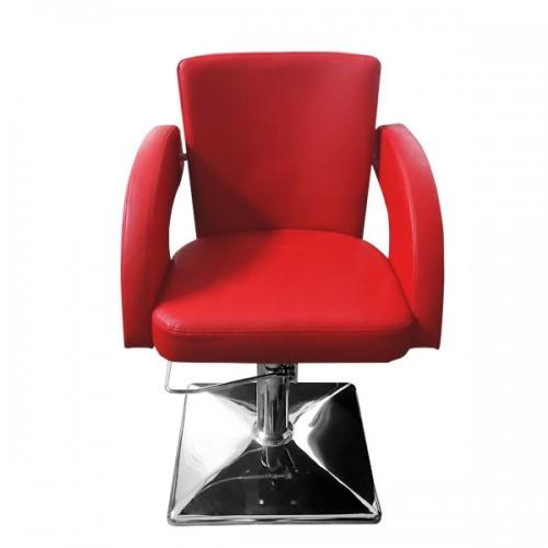Фризьорски стол в червен цвят – Модел М1001