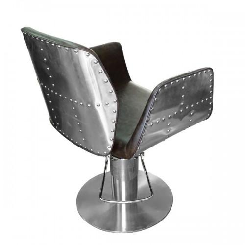Фризьорски стол с атрактивна визия - НА295 в кафяво