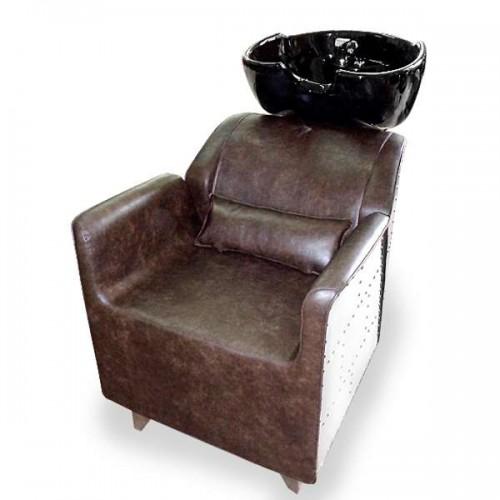 Комплект стилно фризьорско оборудване - измивна колона + фризьорски стол