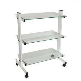 Стилна козметична количка със стъклени рафтчета КК001