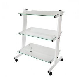 Наклонена козметична количка със стъклени рафтчета КК002