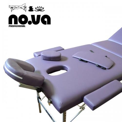 Алуминиева Масажна Кушетка – с повдигане NO.VA Aero Plus NV31, лилава