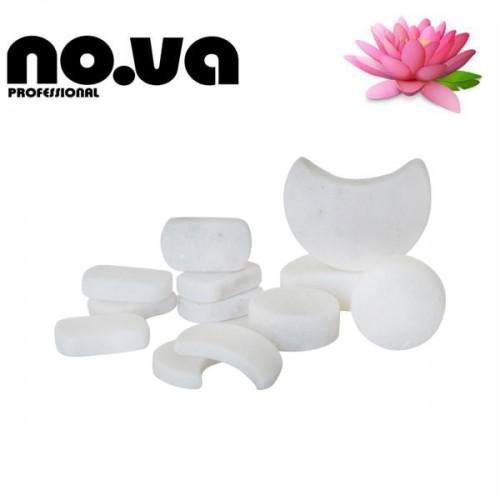 Бели Мраморни Камъни за студена терапия на лице – Комплект 12бр.