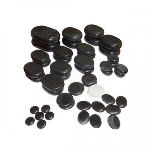 Комплект 50 бр базалтови вулканични камъни за масаж NO.VA Professional