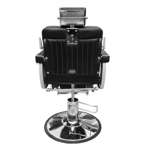 Бръснарски стол от еко кожа в черно IM227
