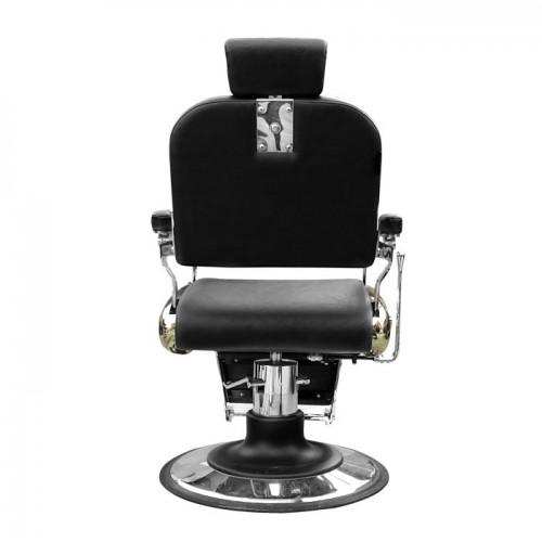 Бръснарски стол в черно и златисто IM233