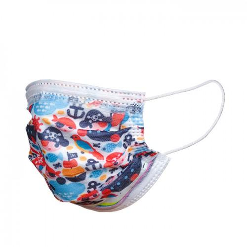 Еднократни детски медицински маски с различен десен - 50 броя