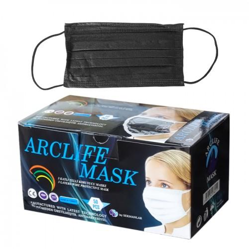 Трислойни маски за еднократна употреба Arclife mask, 50 броя