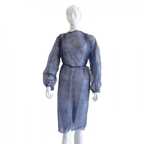 Дълга медицинска престилка от нетъкан текстил Softcare, Синя