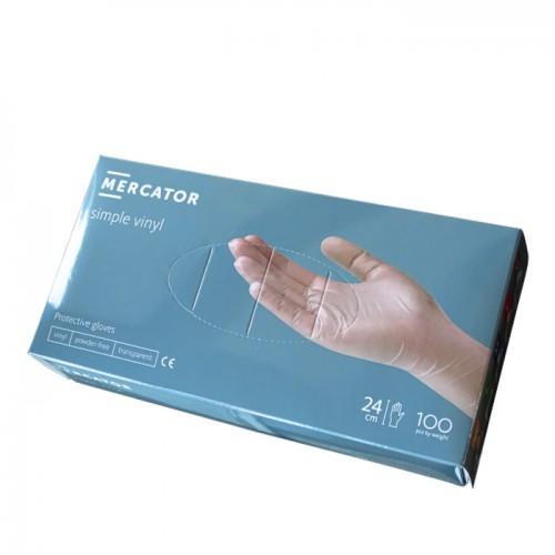Винилови прозрачни ръкавици Mercator - 100 броя