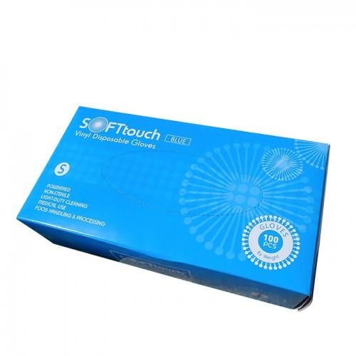 Soft touch 100 броя еднократни ръкавици от винил