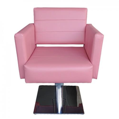 Професионален фризьорски стол М788, Розов