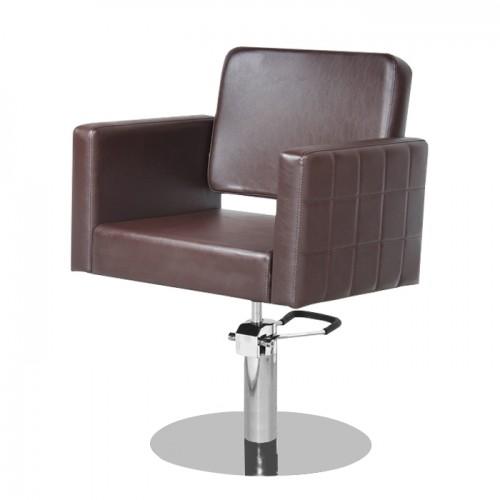Фризьорски стол M970 – Кафяв