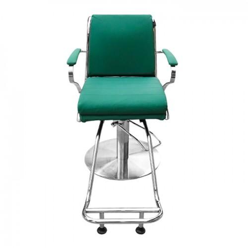 Зелен фризьорски стол със стойка за крака IM203
