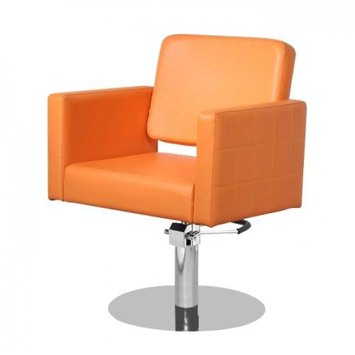 Стилен фризьорски стол в оранжево модел M970