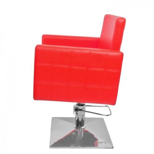 Фризьорски стол в червен цвят PA08F0R