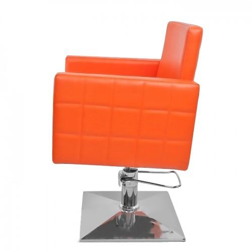 Качествен и елегантен фризьорски стол в оранжев цвят модел PA08F0OR