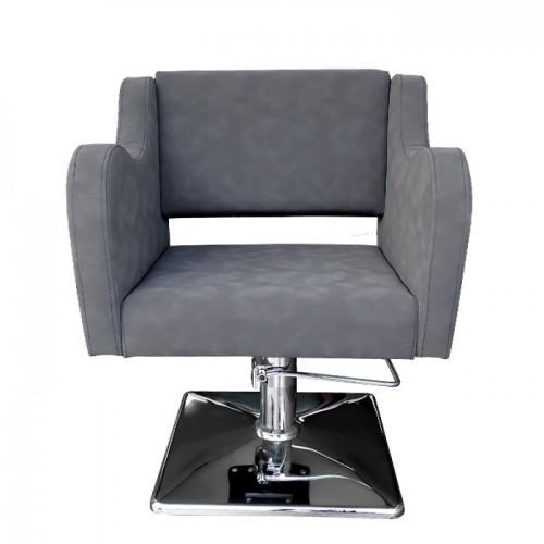 Модерен фризьорски стол модел А5000 сив