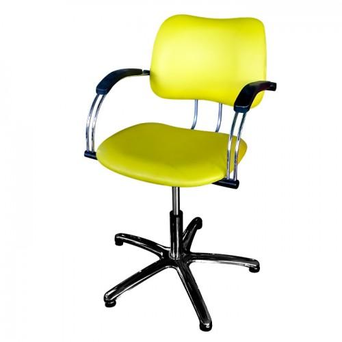 Фризьорски стол модел 332 в жълт цвят