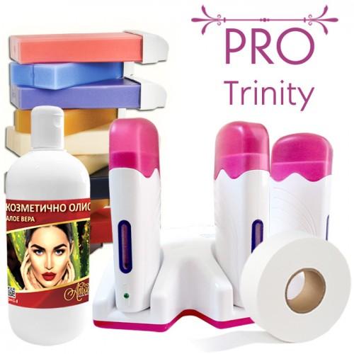 Комплект за епилация  с кола маска - Pro Trinity