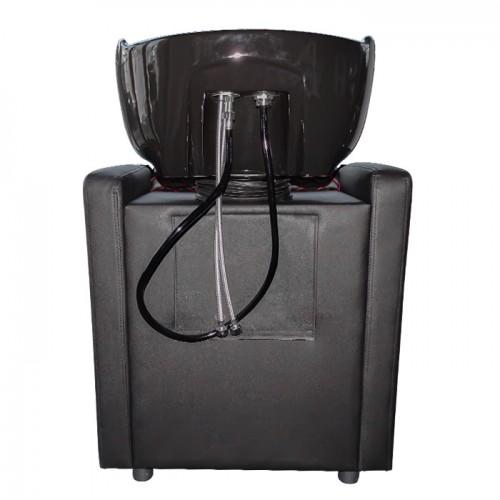 Стилна измивна колона в черно с червени шевове M402
