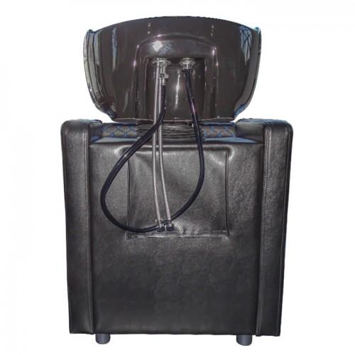 Стилна измивна колона в черно със сини шевове M402