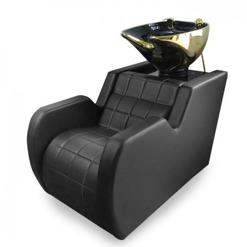 Луксозна измивна колона в черно и златисто Модел N292