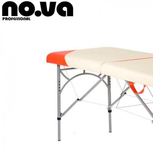 Преносима Алуминиева Масажна Кушетка NO.VA Aero Delux NV21 - в бяло и оранжево