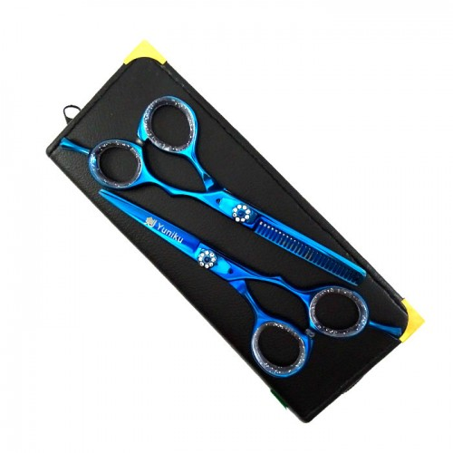 2 броя професионални фризьорски ножици Yuniku модел DS3
