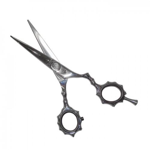 Фризьорска ножица за дясна ръка с ергономичен дизайн N7, Сребрист