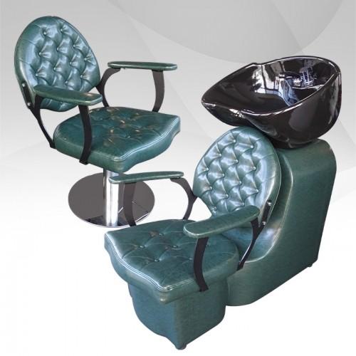 Професионален фризьорски копмлект Petrol Green