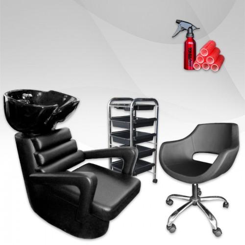 Стилен комплект с фризьорско оборудване ECONOMY