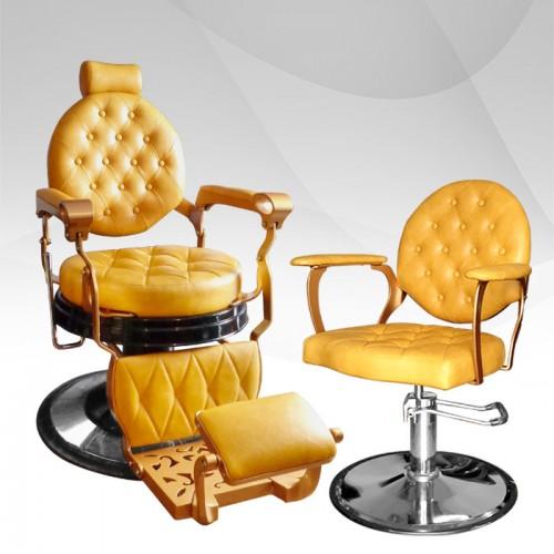 Пакет бръснарски и фризьорски стол Barber LUX