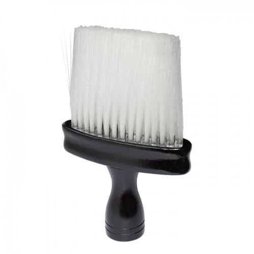 Ергономична четка за врат с мек косъм 030, Черна