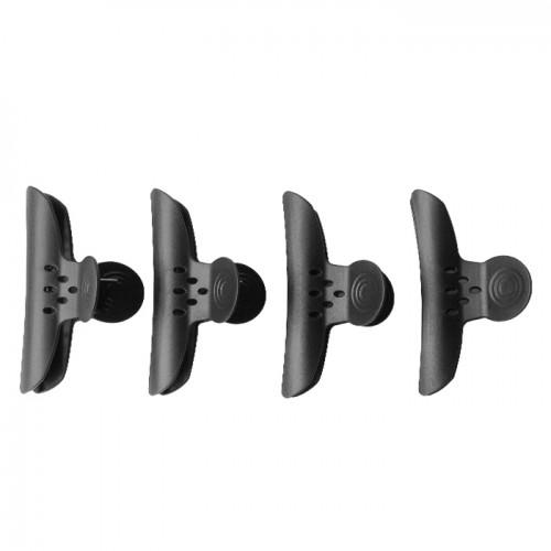 Шнола за коса в черен матов цвят, 4 бр.