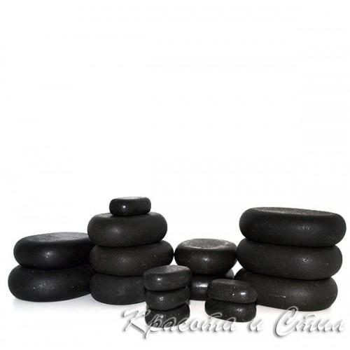 Комплект вулканични базалтови камъни за масаж - 16 броя